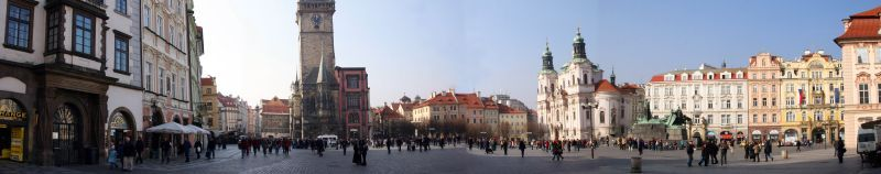 Панорама старой площади Праги