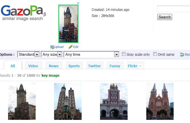 Результаты поиска в GazoPa
